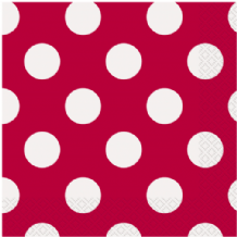 Red Dots Luncheon Napkins (16pcs) 2-Ply